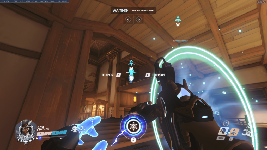 Symmetra how to send sentry turrets with teleporter